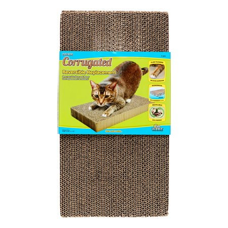 Ware Corrugated Reversible Replacement Cat Scratcher, Double, 2 -