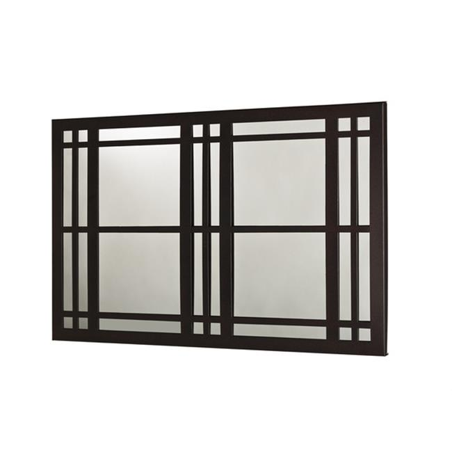 Metal Decor WA-3002-M-BLK Windows Black Ridge Metal Mirror & Wall Decor Art