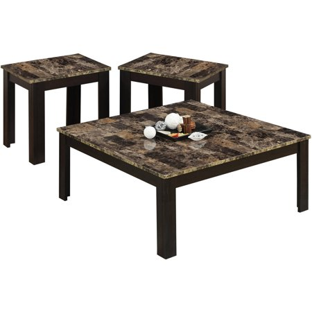 Monarch Table Set 3Pcs Set / Cappuccino / MarbleLook Top - Corporate ...