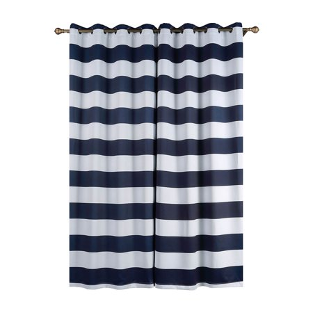 Balsacircle 52 X 96 Inch Cabana Stripe Curtains D Panels With Grommet Window Treatments Home Decorations