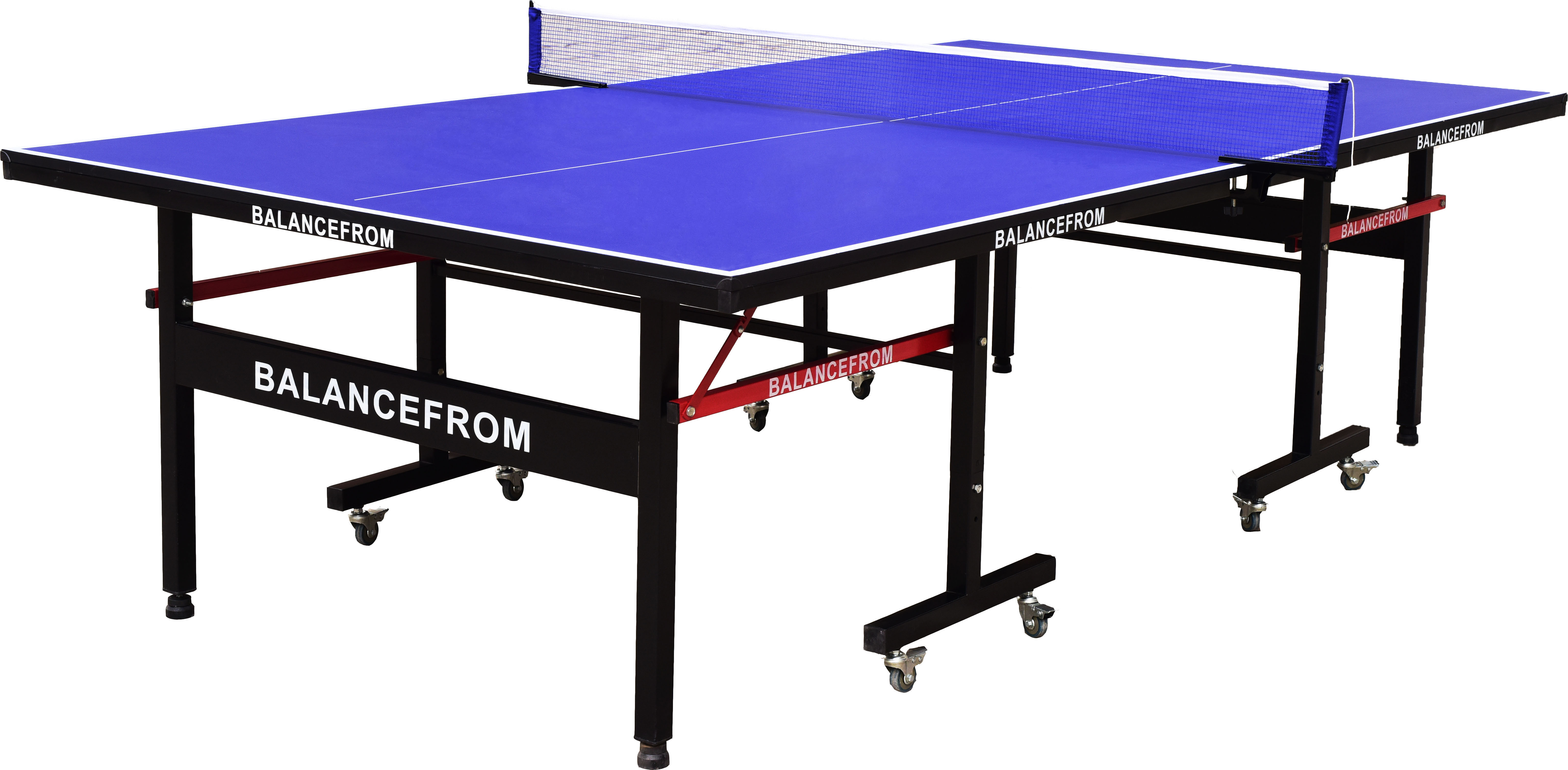 BalanceFrom Gopingpong 18mm Wood Surface Inside Ping Pong Table with Net Set by BalanceFrom