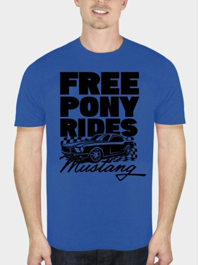 1fee238f11 Product Image Ford Mustang Men's Free Pony Rides Short Sleeve Graphic T- Shirt, up to Size