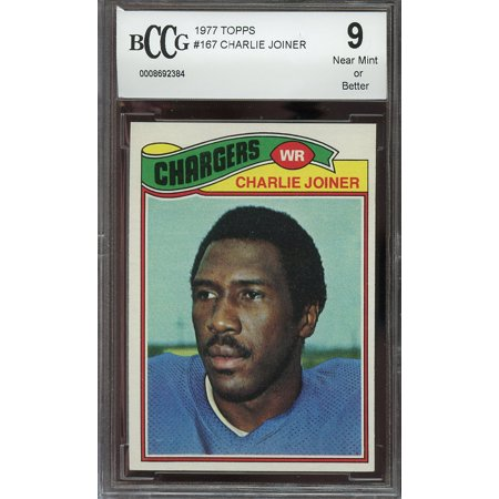 1977 topps #167 CHARLIE JOINER san diego chargers BGS BCCG 9
