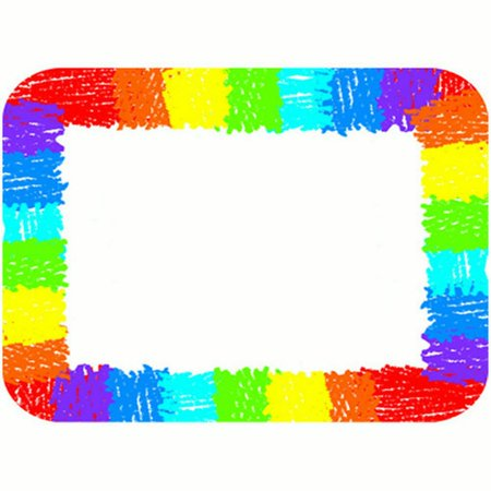 Rainbow Name Tags These convenient, self-adhesive name tags are ideal for labeling, reminders, calendar and homework notes, and more! Each pack features 40 name tags, measuring 3  x 2.5?. Available in a variety of prints, name tags are fun addition to any classroom!