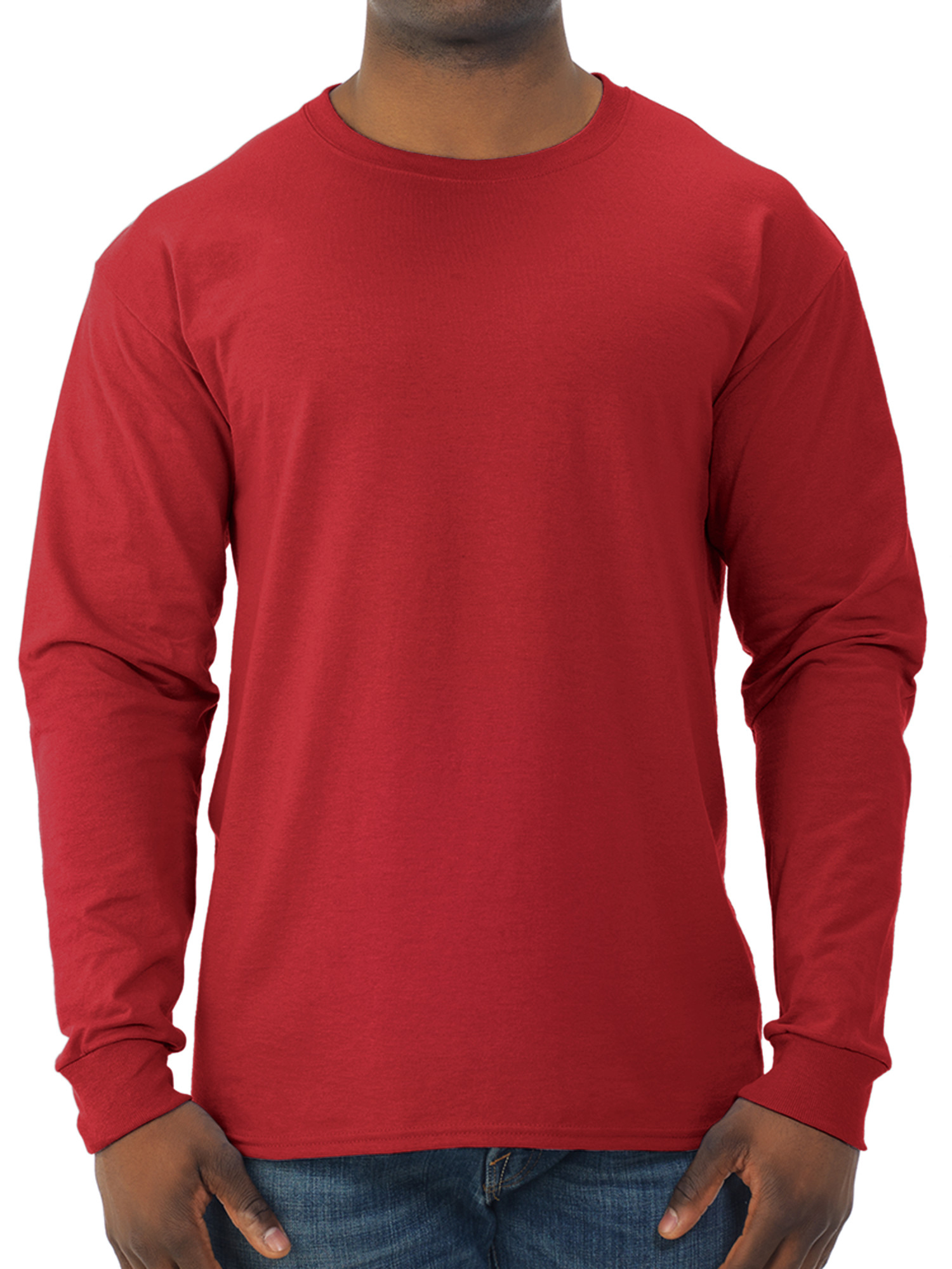 Big Men's Dri-Power Long Sleeve Crewneck T Shirt