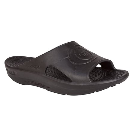 Telic Slide Orthotic Supportive Recovery Sandal - Unisex - Black Women's