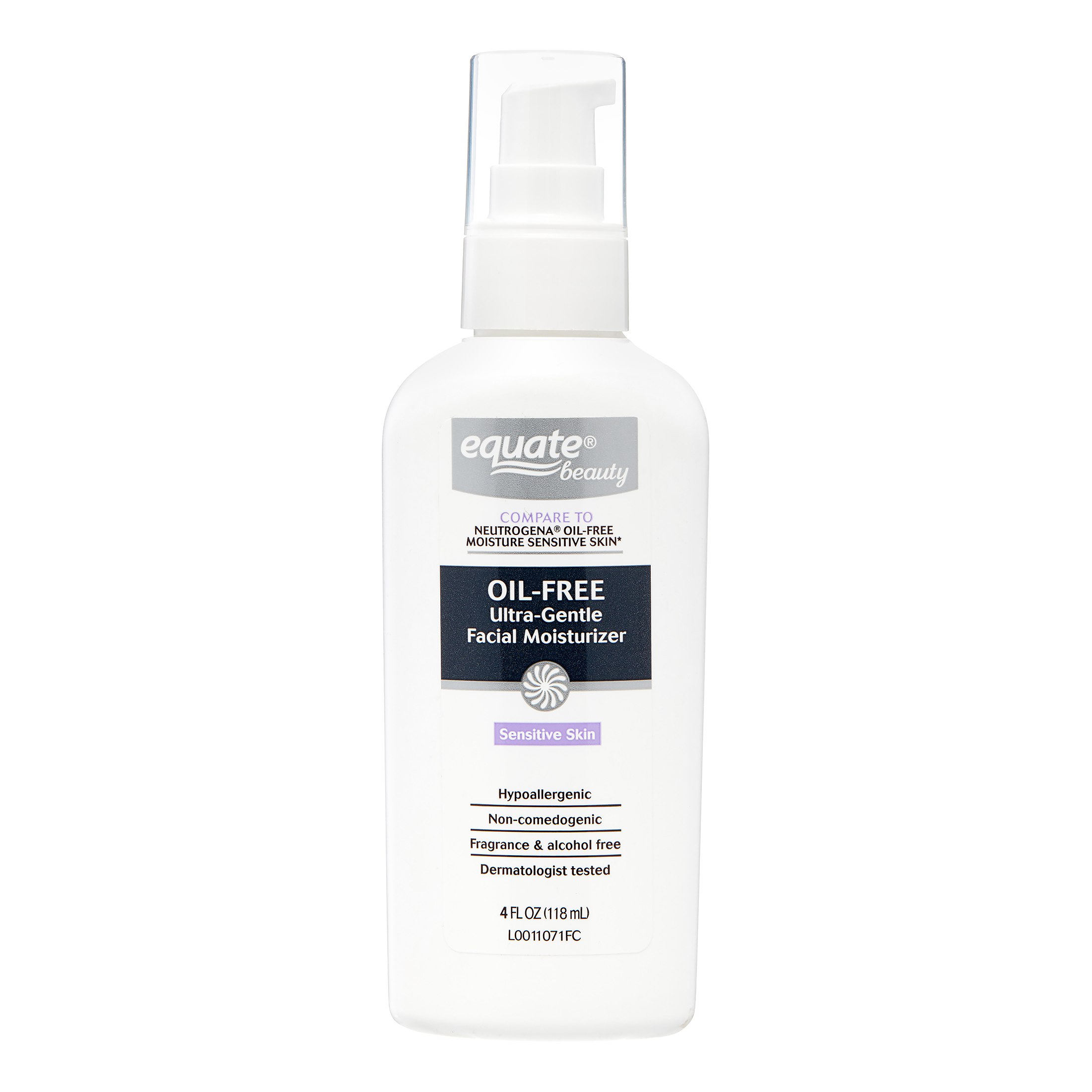 Equate Beauty Oil-Free Ultra-Gentle Lotion Face Moisturizer, 6 Fl Oz