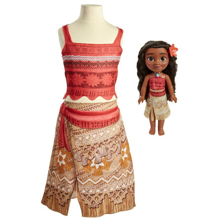 Disney Princess Moana Toddler Doll and Dress](Male Disney Characters To Dress Up As)