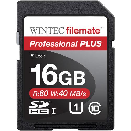 Wintec Filemate Professional Plus 16GB SDHC UHS-1 Memory Card