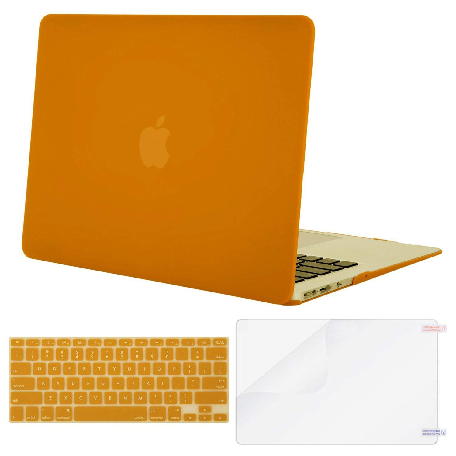 Mosiso Plastic Hard Case with Keyboard Cover with Screen Protector for MacBook Air 13 Inch (Models: A1369 and A1466),Marsala Red