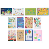 Product Image American Greetings Assorted Birthday Cards And White Envelopes 12ct