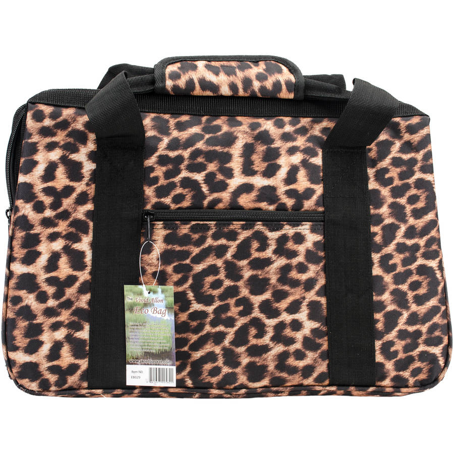 "JanetBasket Eco Bag, 18"" x 10"" x 12"", Leopard"