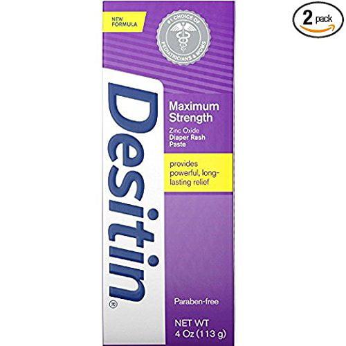 DESITIN Maximum Strength Diaper Rash Paste 4 oz ( Pack of 2) by Desitin