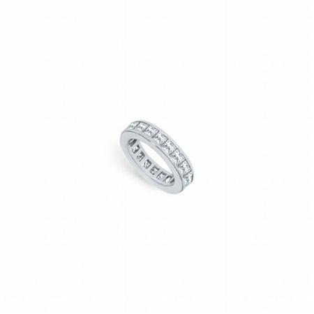 Fine Jewelry Vault UBPTSQ250D160-2-101RS6.5 2.5 CT Platinum Diamond Eternity band Second & Third Wedding Anniversary Ring - Size 6.5