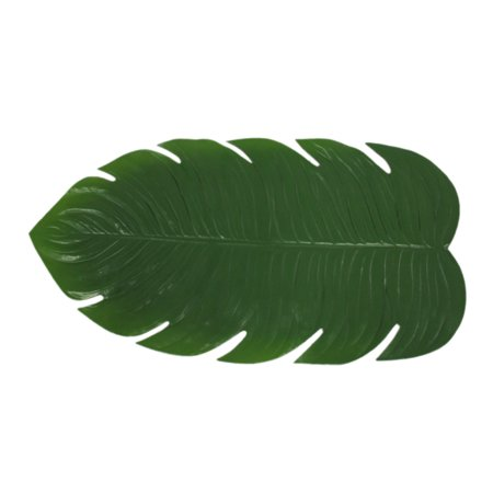 Green Artificial Tropical Monstera Leaf Table Runner