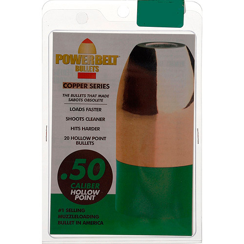PowerBelt Bullets, 20-Pack, .50 Cal. 295 gr. Copper