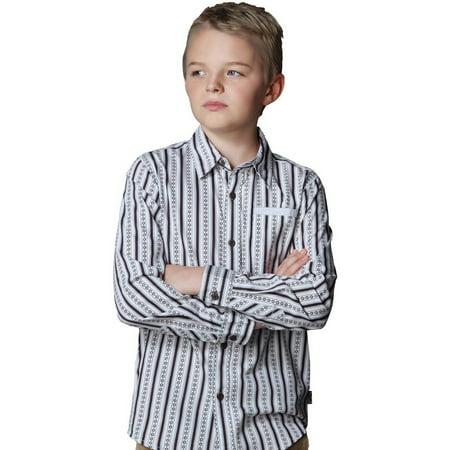 - Leo&Lily Big Boys' Cotton Poplin Stripes Print Casual Shirts Garment Washed