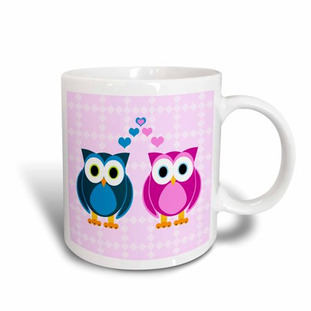 Trade Ceramic (3dRose True Love Owls Design, Ceramic Mug,)