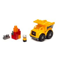 Mega Bloks CAT Lil' Dump Truck with Big Building Blocks, Building Toys for Toddlers (7 Pieces)