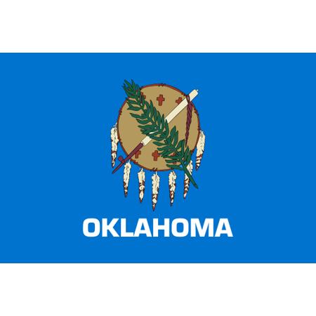 - Oklahoma State Flag Peel-n-Stick Poster Size 24 x 16 Adhesive Sticker Poster Print