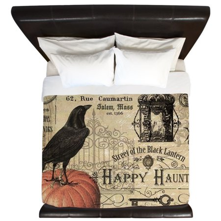 CafePress - Modern Vintage Halloween - King Duvet Cover, Printed Comforter Cover, Unique Bedding, Microfiber