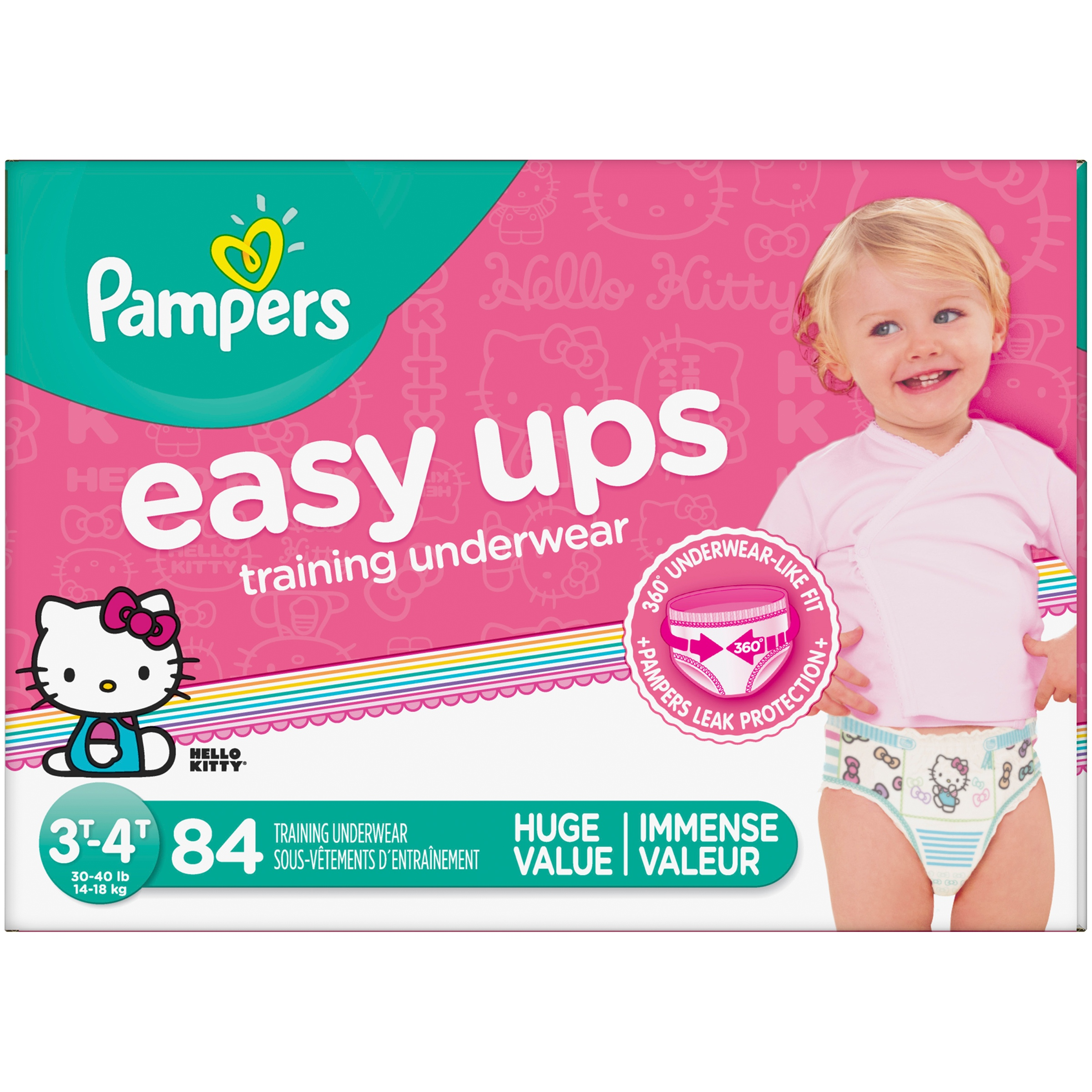 Pampers Easy Ups Hello Kitty® Training Underwear Size 3T–4T, 84 Count