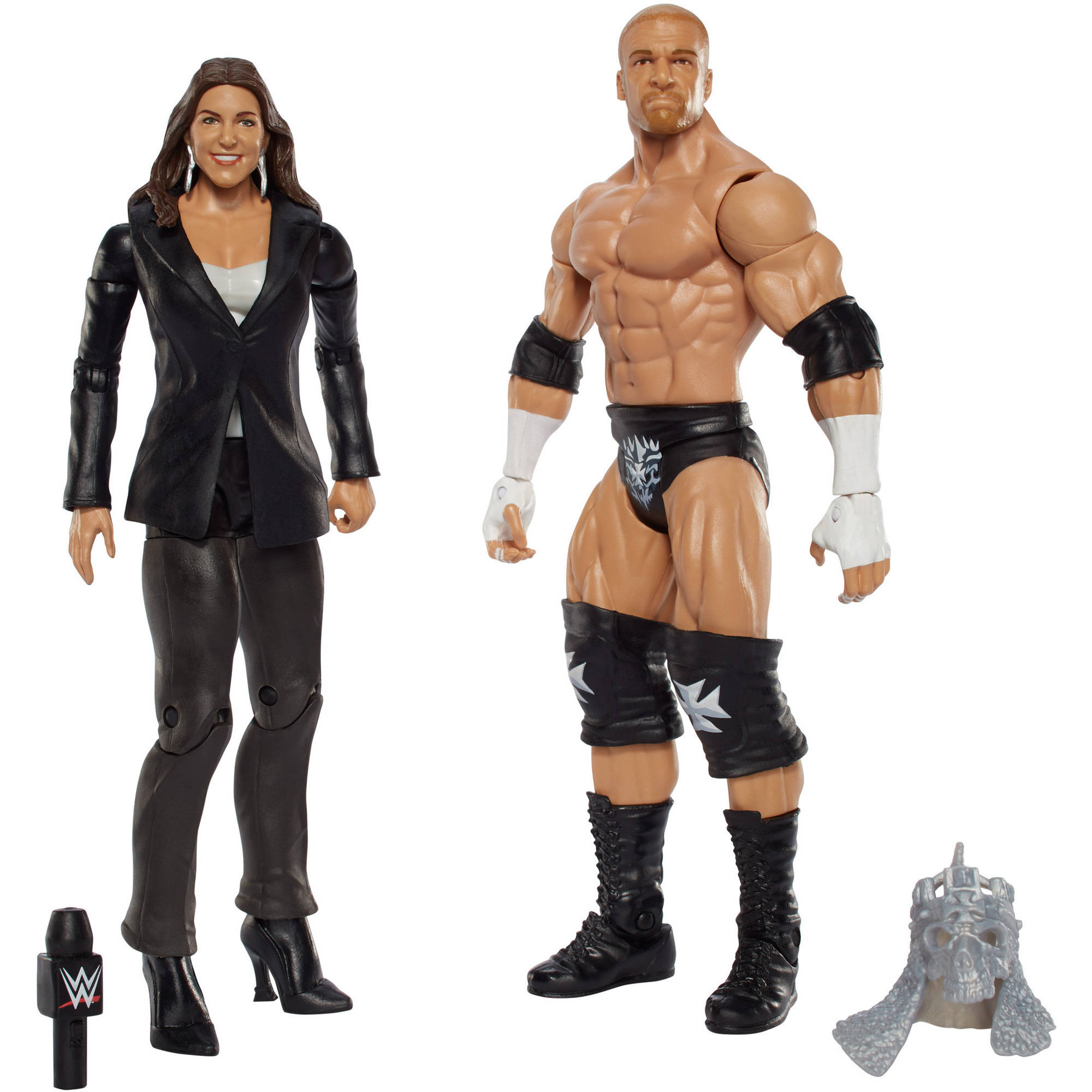 WWE Triple H and Stephanie Mcmahon Figure (2 Pack) by Mattel