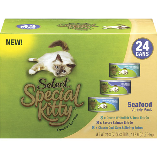 Special Kitty Seafood Variety Pack Wet Cat Food, 3-Ounce Cans (Pack of 24)