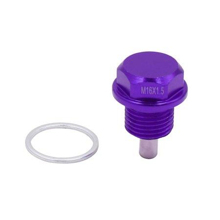 M16 x 1.5mm Thread Purple Magnetic Auto Car Oil Pan Drain Bolt Kit w -