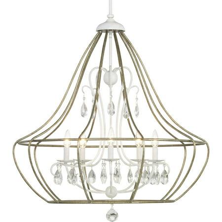 Fleurette Collection Three-Light Chandelier