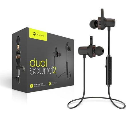 73dd31f9a96 Paww DualSound 2 Headphones - Sweatproof Neck Band Bluetooth 5 Earbuds -  Superior Sound & Call
