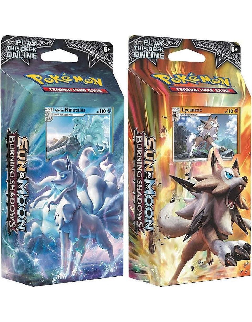 Pokemon TCG Sun and Moon Burning Shadows Theme Decks - Ninetales and  Lycanroc - Walmart.com - Walmart.com