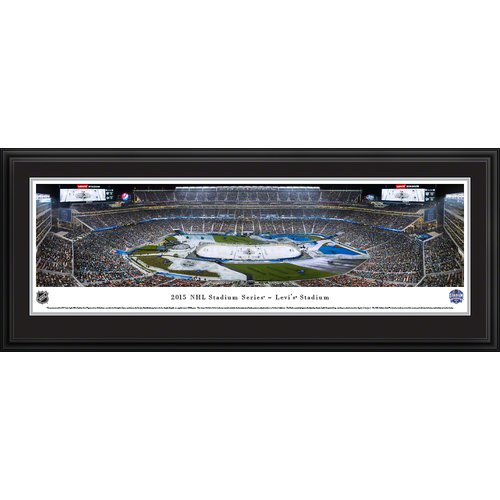 Blakeway Worldwide Panoramas, Inc NHL 2015 Stadium Series - Kings by Christopher Gjevre Framed Photographic Print