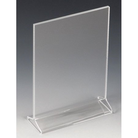 """Counter Sign Display Holder (Table Sign Holder 5""""w x 7""""h x 2""""d Clear Acrylic Counter Picture Frame for 5""""w x 7""""h Images – Sold in Case Packs of 20 Units – Plexiglas Photo Display)"""