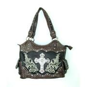 Accessories Plus EC-5765-7 BK Handbag with Cross, Black