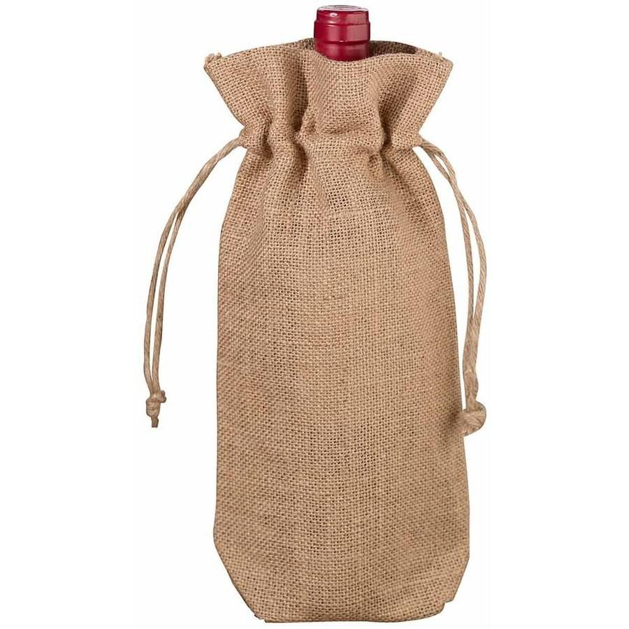 Lillian Rose Burlap Wine Bag, Blank
