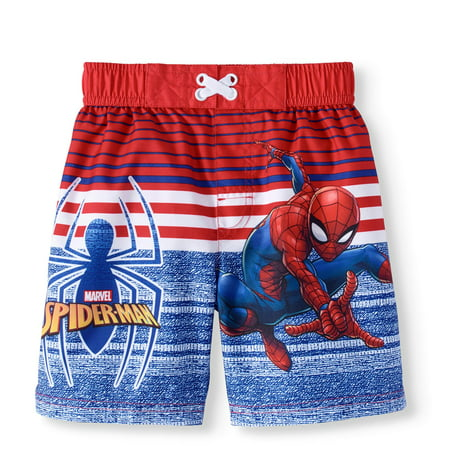 0391d04baac72 Spider-Man - Spiderman Toddler Boy Swim Trunk Board S - Walmart.com