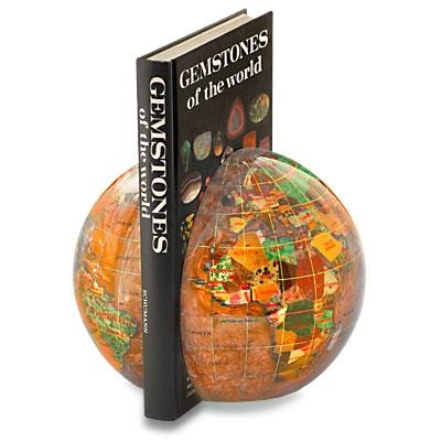 Alexander Kalifano Gemstone Globe Book Ends (Set of 2)