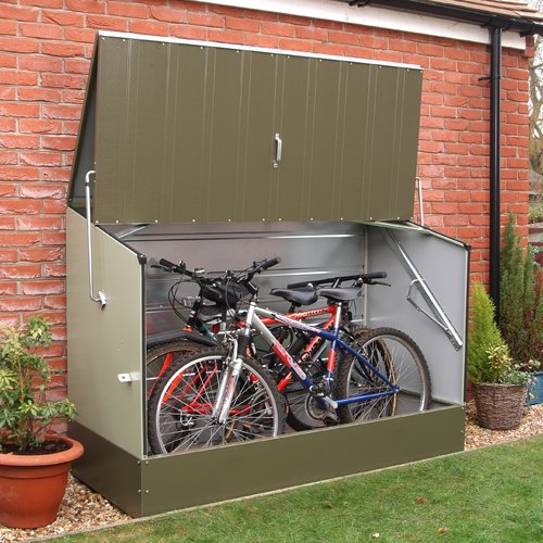 Rowlinson 6 ft. 5 in. W x 2 ft. 11 in. D Metal Horizontal Bike Shed
