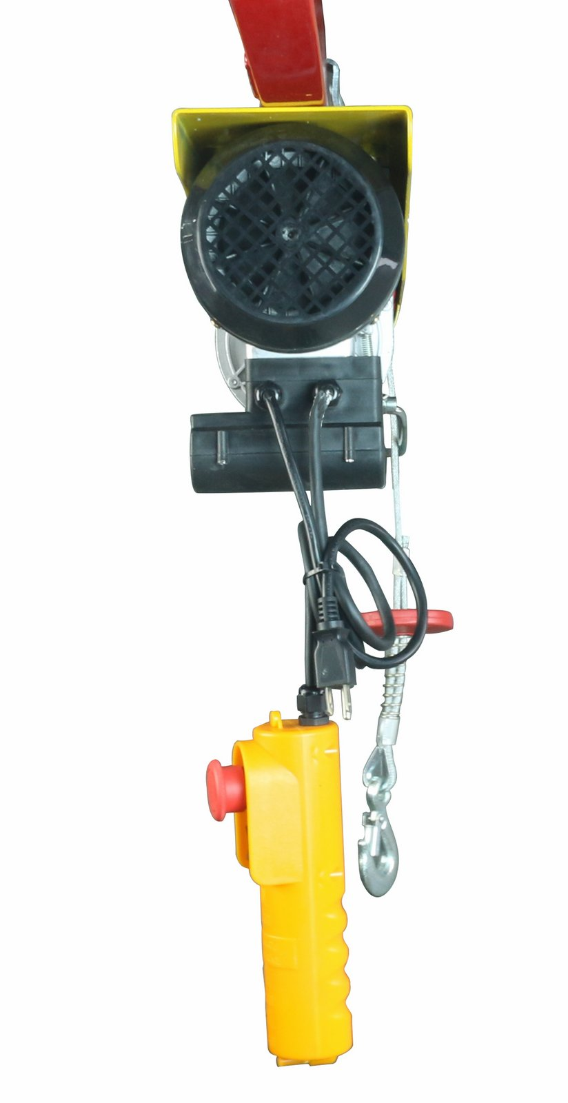 1760LBS 1760LBS Lift Electric Hoist Crane Double Line Lift Hoist Remote Control Power System,Steel Wire Overhead Crane Garage Ceiling Pulley Winch w//Emergency Stop Switch