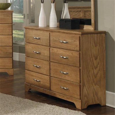 Carolina Furniture Works 495800 Dresser Tall 8 Drawer Clear Oak