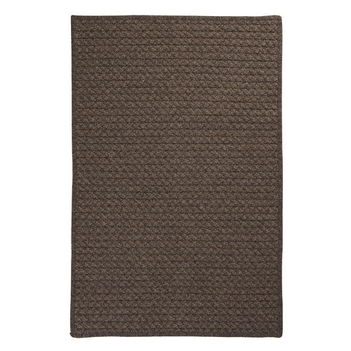 Colonial Mills Natural Wool Houndstooth Cocoa Braided Chocolate Area Rug