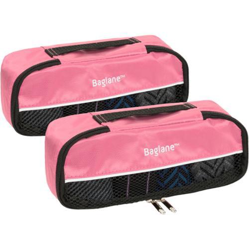 Baglane Pink TechLife Nylon Luggage Travel Packing Cube Bags -2pc Set (X-Small)