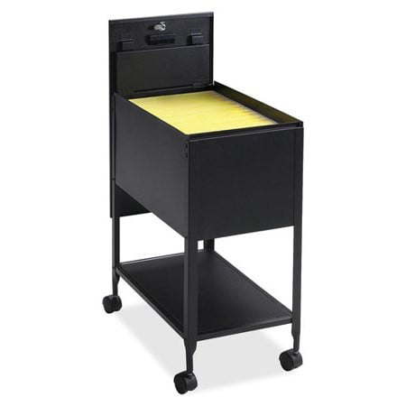 Legal Mobile File Cart (Lorell 1 Drawers Filing Cart Steel Lockable , Black )