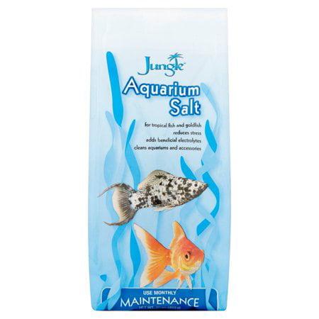 (2 Pack) Jungle Aquarium Salt for Tropical Fish, & Goldfish, 16-Ounces