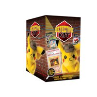 Pokemon Detective Pikachu Plush Doll Kit- 1 Pikachu Plush Doll | 2 Booster Packs | Chance to find 1st Edition Charizard
