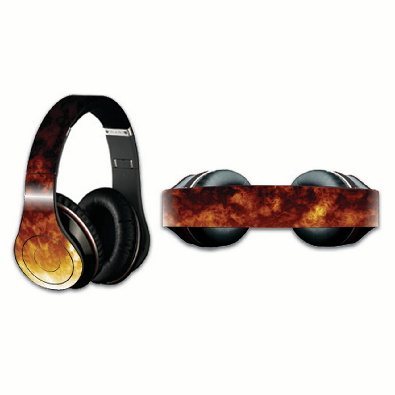 Mightyskins Protective Vinyl Skin Decal Cover for Dr. Dre Beats Studio Headphones wrap sticker skins Firestorm