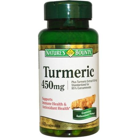 Natures Bounty Turmeric Herbal Supplement Capsules  450Mg  60 Count