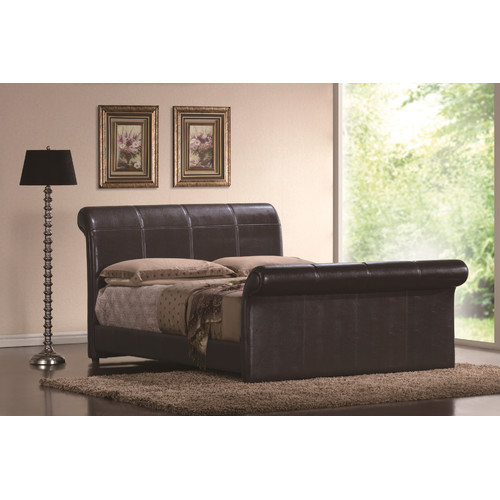Wildon Home Montgomery Upholstered Sleigh Bed by Windward Furniture