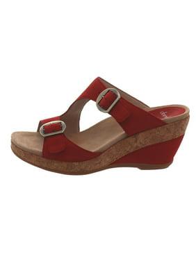 Dansko Leather Adjustable Wedge Sandals Carla A304711